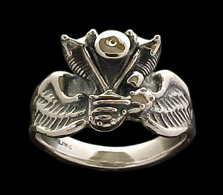 Knuckle Ring on wings - Sterling Silver