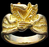 Knuckle Ring on wings - 10K Gold