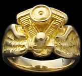 Evolution Ring on wings - 10K Gold