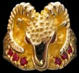 Ram Ring - 10K Gold - Ruby