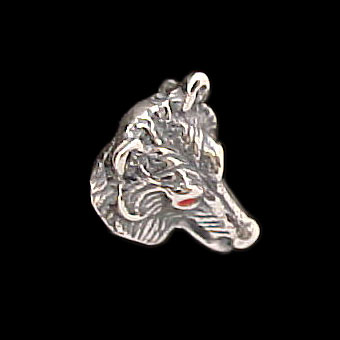 Wolf Earring Studs - Sterling Silver