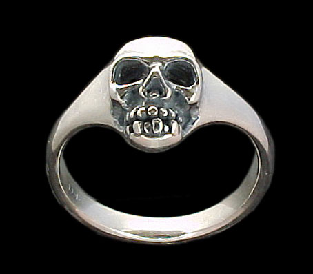 Medium Skull Ring - Sterling Silver
