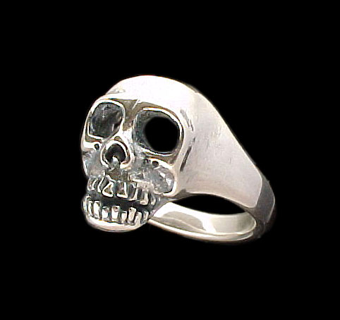 Large Skull Ring - Sterling Silver