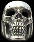 Ex. Ex. Large Skull Ring - Sterling Silver
